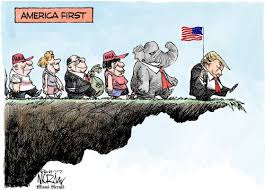 """How Trump reacts to the first crisis of his administration by """"Making  America Great Again"""" 