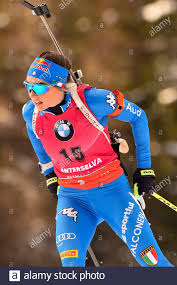 the italiana dorothea wierer 7a cl . in action during IBU World ...