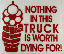 Nothing Worth Dying For Decal Ebay