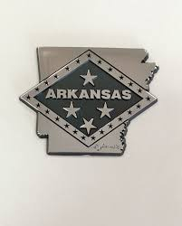 Campus Bookstore On Dickson State Of Arkansas With Flag Diamond Car Decal