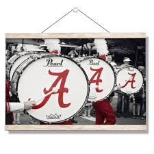 Alabama Crimson Tide Mdb Drums Officially Licensed Wall Art College Wall Art