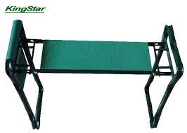 folding garden kneeler seat and tool