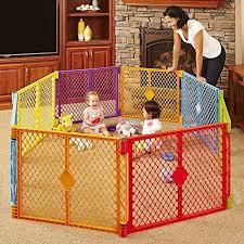 8 Panel Kids Play Yard Children Play Yard Fence Playpen Portable Kids Play Pen Ebay