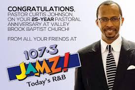 Congratulations to Pastor Curtis Johnson!   WJMZ   107.3 JAMZ