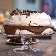 chocolate pecan meringue torte