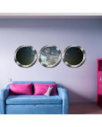 New Bargains On Vwaq Galaxy Wall Decals Space 3d Window Sticker Spaceship Decal Spw29