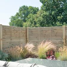 Contemporary Double Slatted Fence