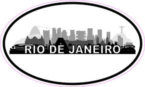 5in X 3in Oval Rio De Janeiro Skyline Sticker Luggage Decal Car Stickers Stickertalk