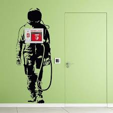 Banksy Space Astronaut Wall Decal For Aed Wall Cabinet