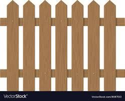 Brown Wooden Fence Royalty Free Vector Image Vectorstock