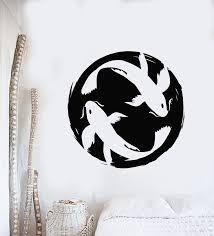 Vinyl Wall Decal Asian Style Koi Carp Couple Fish Zen Japanese Sticker Wallstickers4you