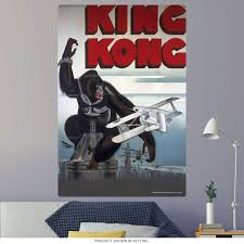 King Kong Attacked By Plane Wall Decal At Retro Planet