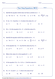 practice 7 1 solving two step equations