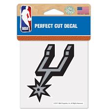 San Antonio Spurs Wincraft 4 X 4 Color Perfect Cut Decal Walmart Com