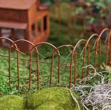 Accessories Miniature Dollhouse Fairy Garden Brown Wire Fence Garden Decor Home Garden