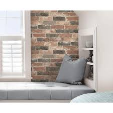 Peel Stick Removable Brick Wallpaper Home Decor The Home Depot