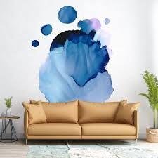 Picture Perfect Decals Abstract Watercolor Ink Removable Wall Decal
