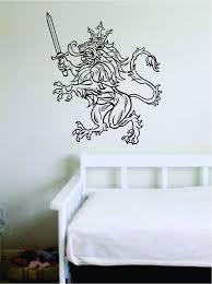 Lion V19 Animals King Crown Sword Wall Decal Sticker Vinyl Art Bedroom Boop Decals