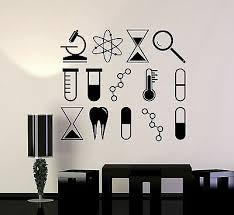 Vinyl Wall Decal Science University School Laboratory Chemistry Stickers Ig4245 Ebay