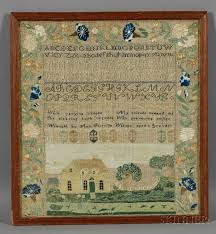 """Wrought by Ann Priscilla Watson aged 11 yrs. 1825,"""" 