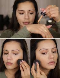 how to apply foundation on face step