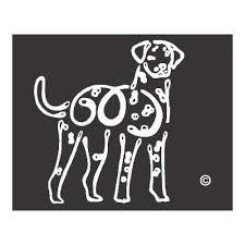 K Line Dalmatian Dog Car Window Decal Tattoo Doggy Style Gifts