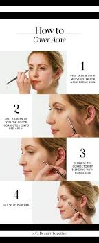 how to cover acne by makeup brushes