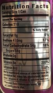 nos energy drink nutrition facts
