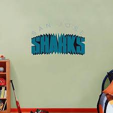 Amazon Com Skyhighprint San Jose Sharks Nhl Hockey Wall Decor Sport Print Vinyl Sticker 25 X 15 Kitchen Dining