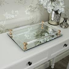 rectangular mirrored display tray