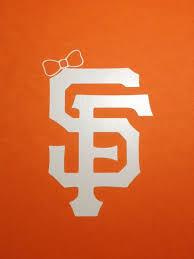 San Francisco Giants Sf Logo With Bow Vinyl Decal Large Car Decal Bumper Sticker San Francisco Giants Giants Baseball Logos