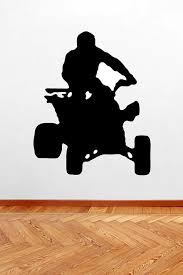 Four Wheeler Wall Decal Sports Outdoor Hobby Kids Room Man Cave Home Decor Removeable Wall Art Vinyl Wall Sticker Decal Idee Lolo