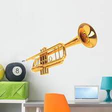 Polished Brass Trumpet Wall Decal Wallmonkeys Com