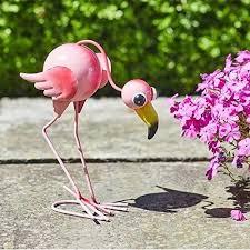 flamingo metal garden ornaments medium