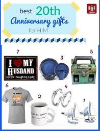 unique 20th anniversary gifts for him