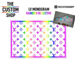 Louis Vuitton Lv Rainbow Reflective Heat Activated Transfer Vinyl Deca The Custom Shop