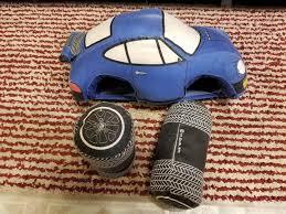 Toys for Adults Margie Smith-Haas USA Blue Porsche 911 Targa Cloth Pillow  fuch | #1881913682