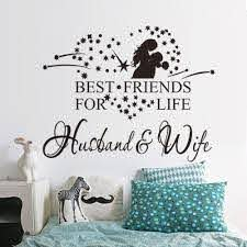 Best Friends For Life Husband And Wife Wall Quote Words Decals Sticker Decor Black Sticker Decoration Decal Stickerdecorative Stickers Aliexpress
