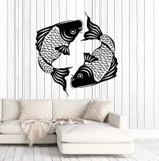 Vinyl Wall Decal Asian Koi Carp Fish Japanese Style Stickers Mural Uni Wallstickers4you