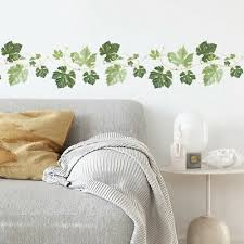Nordic Plant Vine Leaves Home Wall Sticker Living Room Kitchen Corner Decal Ebay