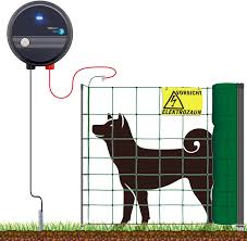 Voss Farming Dog Dogs Fence Complete Set Easy 50 M Hats Electric Fence Net Effective In Gardens Height 90 Cm 1 Tip Green Practical Small Animal Run Amazon De Garten