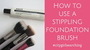 how to use a stippling foundation brush