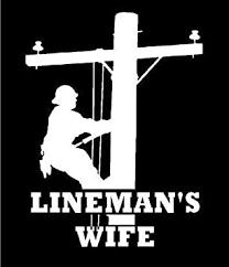 Amazon Com White Vinyl Decal Lineman S Wife Pole Linemen Lineman Electric Sticker Die Cut Decal Bumper Sticker For Windows Cars Trucks Laptops Etc Automotive