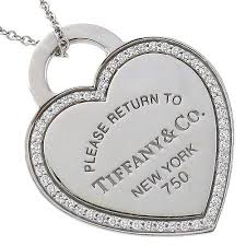 tiffany diamond heart tag pendant