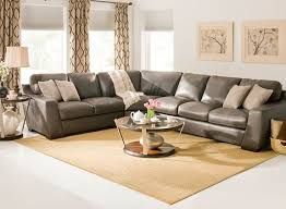 carpenter 3 pc leather sectional sofa
