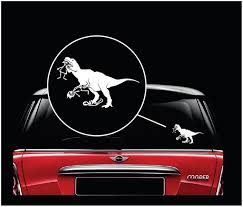 T Rex Eating Stick Family Window Decal Sticker Custom Sticker Shop