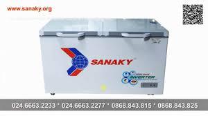 Tủ đông gia đình | Tủ đông Sanaky Inverter 400L | Tủ 1 ngăn 2 cánh dàn lạnh  ống đồng - YouTube