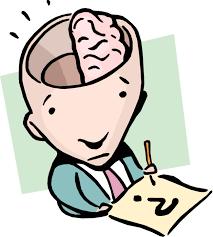 Half-A-Brain Idiom - Vector Image