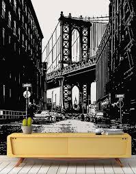 New York City Manhattan Bridge Street View Wall Decal Iconic Photo From Dumbo 6144 Stickerbrand