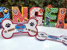 Invitacion Hueso Paw Patrol Patrulla Canina Huesito Invitaci